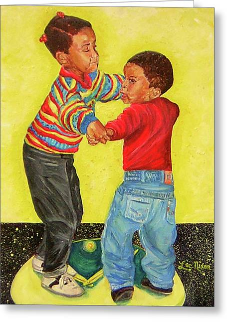 Dancing The Night Away Greeting Card by Lee Nixon