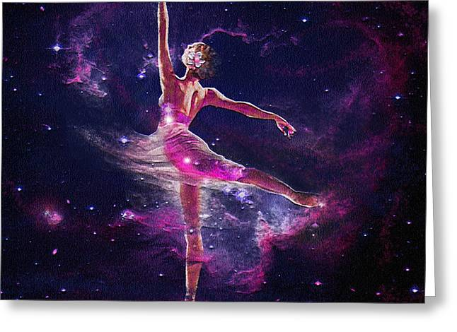 Dancing The Universe Into Being 2 Greeting Card by Jane Schnetlage