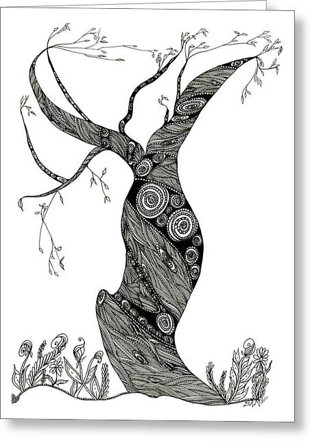 Dancing Tree Greeting Card