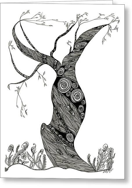 Dancing Tree Greeting Card