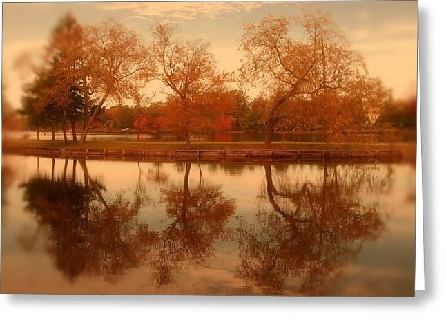 Dancing Trees - Lake Carasaljo Greeting Card
