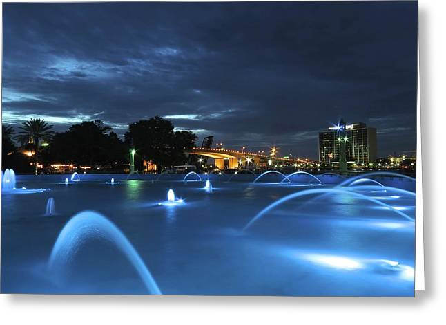 Dancing Waters Greeting Card by William Randolph