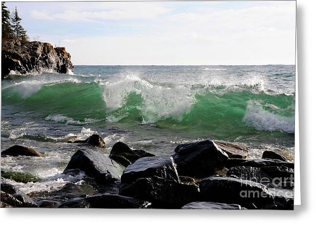 Dancing Waves Greeting Card by Sandra Updyke