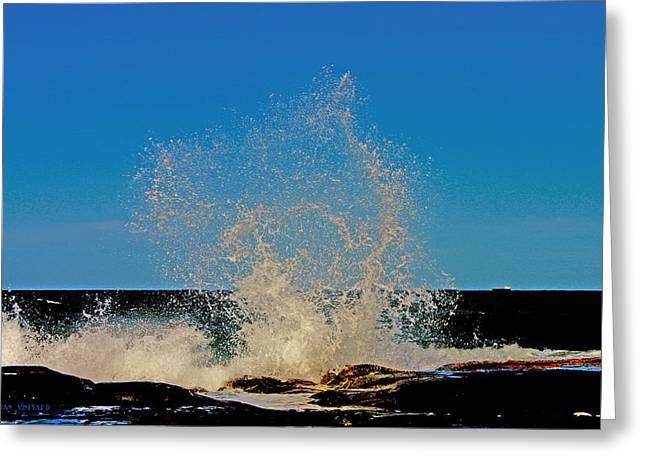 Dancing Waves Greeting Card by Susan Vineyard