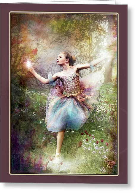 Dancing With The Light Greeting Card by Pamela Hagedoorn