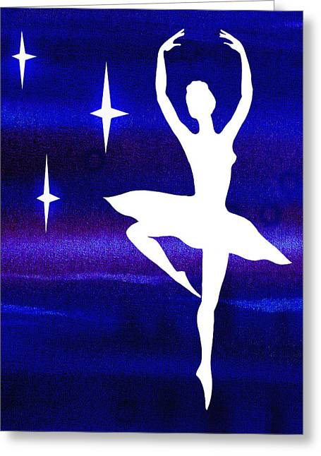 Lessons Greeting Cards - Dancing With The Stars Ballerina Greeting Card by Irina Sztukowski