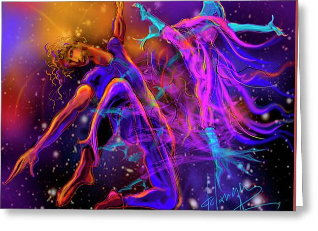 Dancing With The Universe Greeting Card by DC Langer