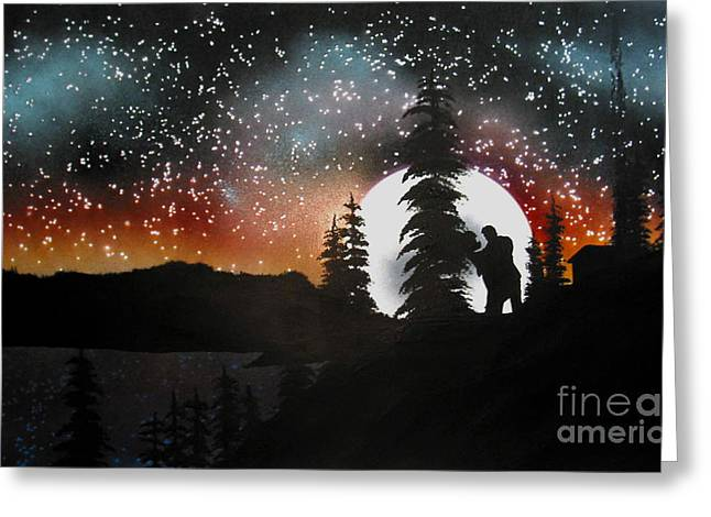 Dancing With You Greeting Card by Ed Moore
