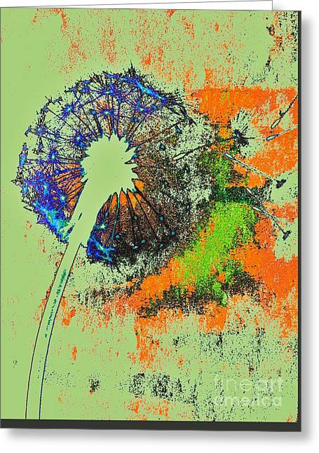 Dandelion Abstract By Jasna Gopic Greeting Card by Jasna Gopic