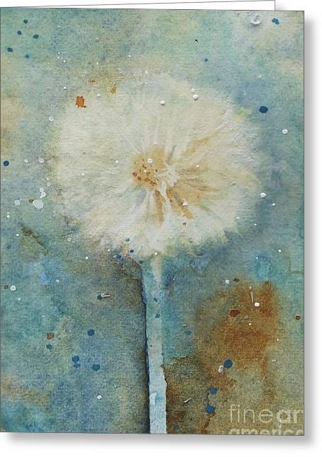 Dandelion Clock 2 Greeting Card