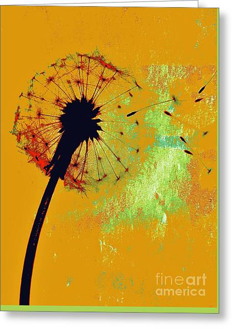 Dandelion Flash By Jasna Gopic Greeting Card by Jasna Gopic