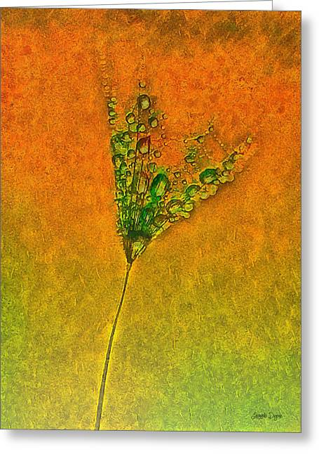 Dandelion Flower - Da Greeting Card by Leonardo Digenio