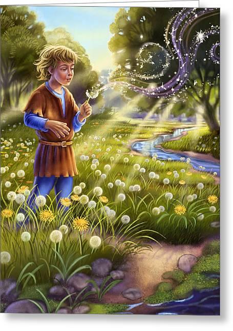 Dandelion - Make A Wish Greeting Card
