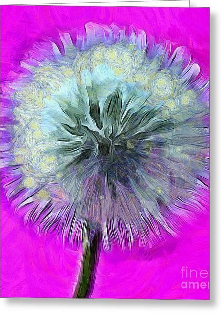 Dandelion Spirit Greeting Card by Krissy Katsimbras