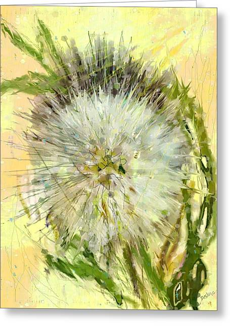 Dandelion Sunshower Greeting Card by Desline Vitto