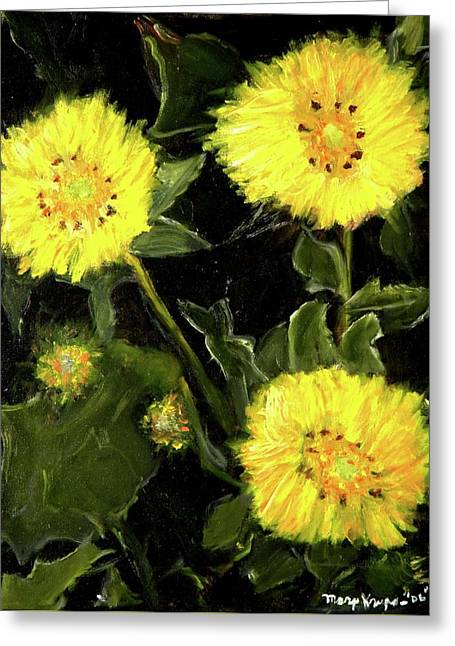 Dandelions By Mary Krupa  Greeting Card