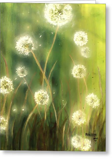 Dandelions Greeting Card by Melissa Herrin