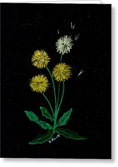 Dandy Lions Greeting Card by Diane Frick