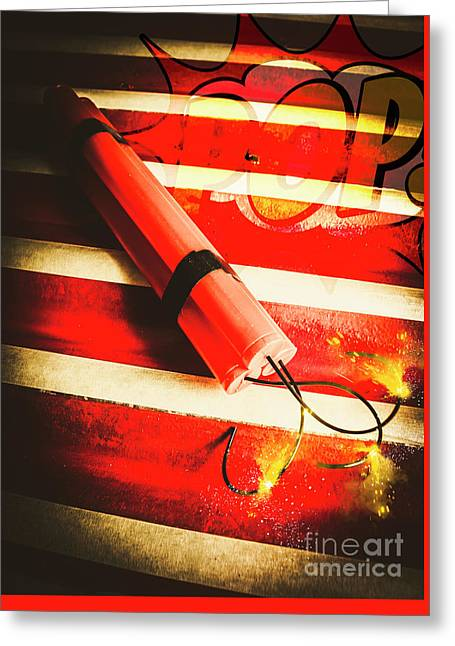 Danger Bomb Background Greeting Card by Jorgo Photography - Wall Art Gallery