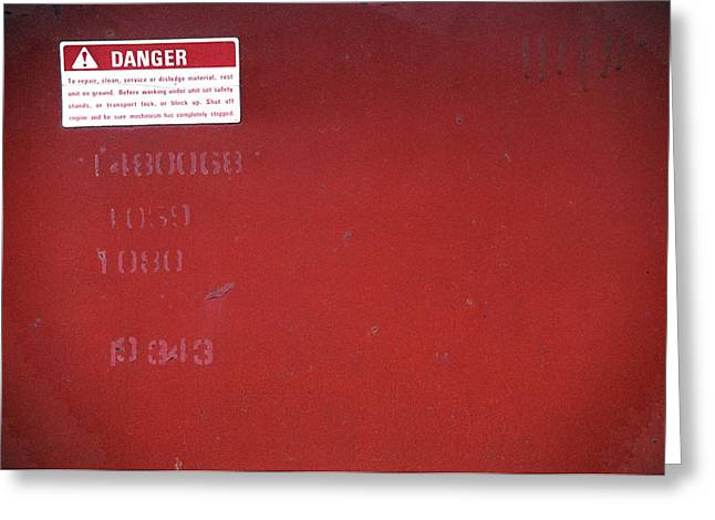 Greeting Card featuring the photograph Danger by Kenneth Campbell