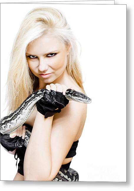 Dangerous Woman Greeting Card by Jorgo Photography - Wall Art Gallery
