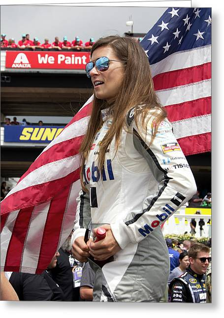 Danica Patrick #10 Greeting Card by Mark A Brown
