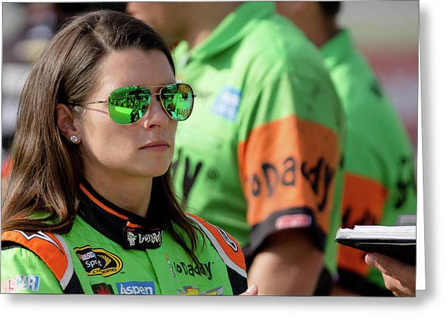 Danica Patrick Greeting Card by Alex Cianfarani