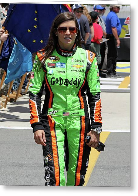 Danica Patrick Greeting Card
