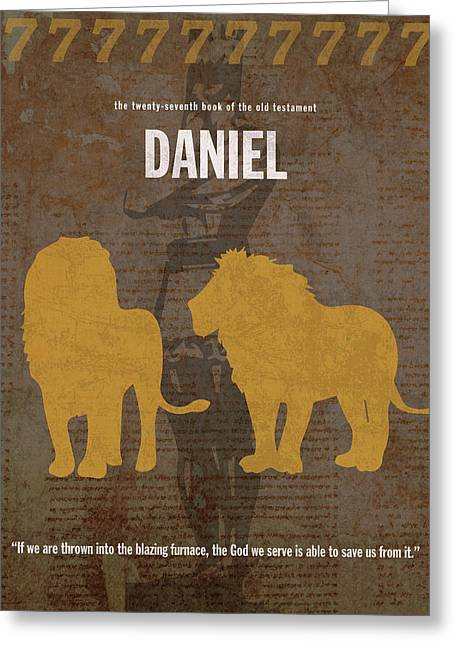 Daniel Books Of The Bible Series Old Testament Minimal Poster Art Number 27 Greeting Card by Design Turnpike