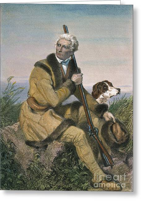 18th Century Greeting Cards - Daniel Boone (1734-1820) Greeting Card by Granger