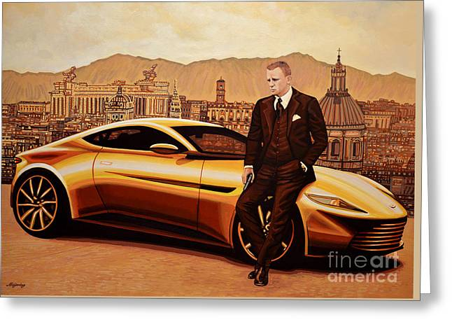 Daniel Craig As James Bond Greeting Card by Paul Meijering