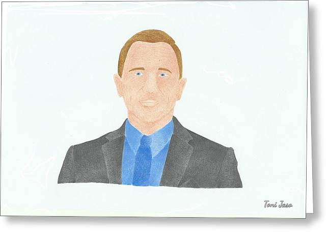 Daniel Craig Greeting Card