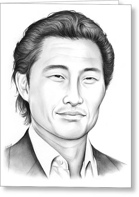 Daniel Dae Kim Greeting Card by Greg Joens