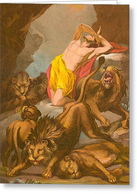 Daniel In The Lions' Den Greeting Card by James Northcote