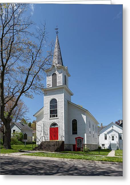 Greeting Card featuring the photograph Danish Lutheran Church by Fran Riley