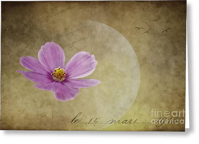 Romance Mixed Media Greeting Cards - Dans lamour pour vous ... Greeting Card by Angela Doelling AD DESIGN Photo and PhotoArt