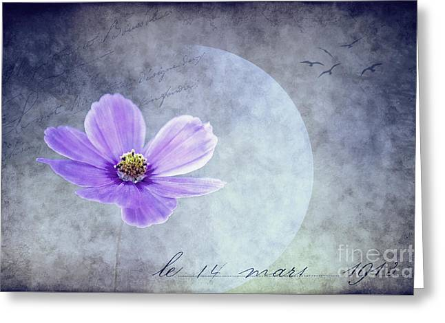 Dans L'amour Pour Vous ... II Bleu Greeting Card by Angela Doelling AD DESIGN Photo and PhotoArt