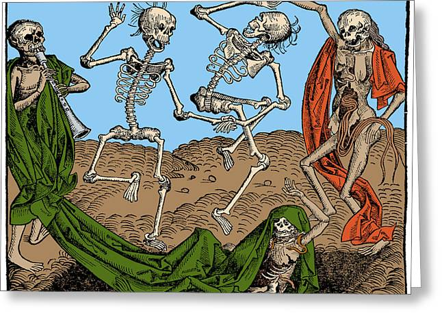 Danse Macabre 1493 Greeting Card by Science Source