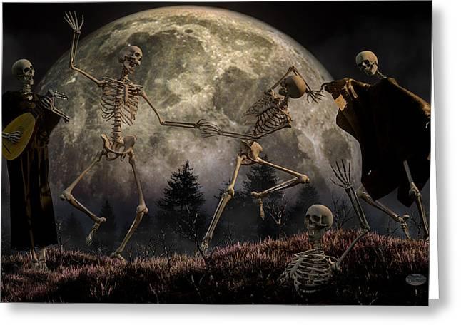 Danse Macabre Greeting Card by Daniel Eskridge