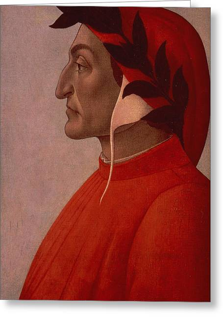Dante Greeting Card by Sandro Botticelli