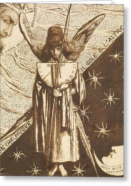Dantis Amor  Greeting Card by Dante Gabriel Rossetti