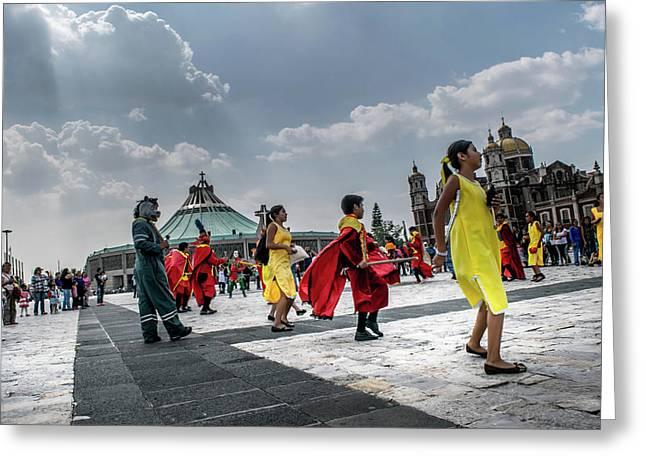 Danza Basilica De Guadalupe - Mexico I Greeting Card