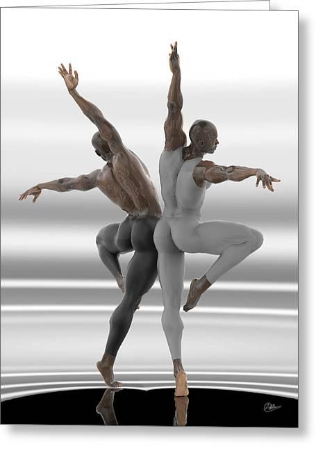 Danza En Pareja Greeting Card
