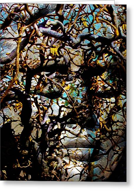 Transformations Mixed Media Greeting Cards - Daphne Consent Greeting Card by Angelina Vick