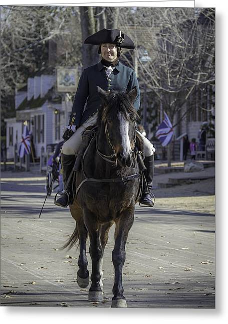 Dapper Rider Greeting Card by Teresa Mucha