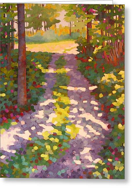 Dappled Lane Greeting Card by Mary McInnis