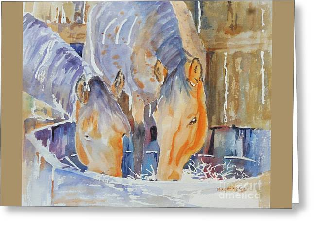 Greeting Card featuring the painting Dappled Sunlight by Mary Haley-Rocks