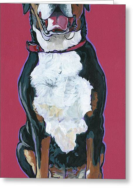 Greeting Card featuring the painting Darby by Nadi Spencer