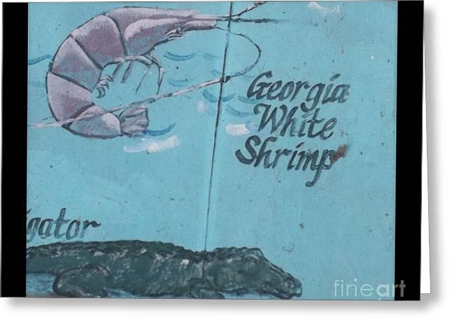 Darien Mural 3 Greeting Card by Rebecca Stephens