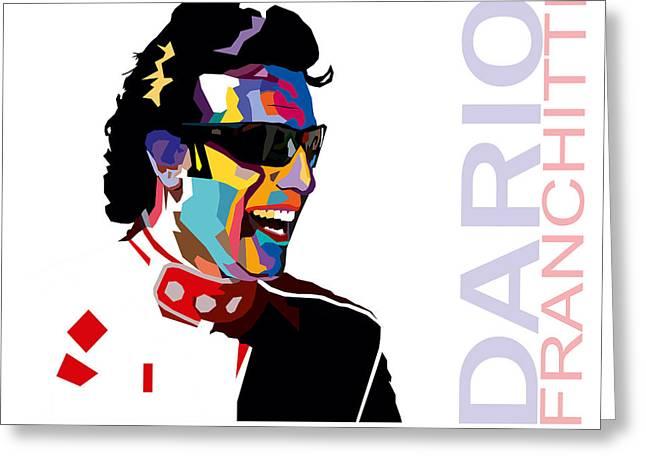 Dario Franchitti Pop Art Style Greeting Card by Jim Bryson